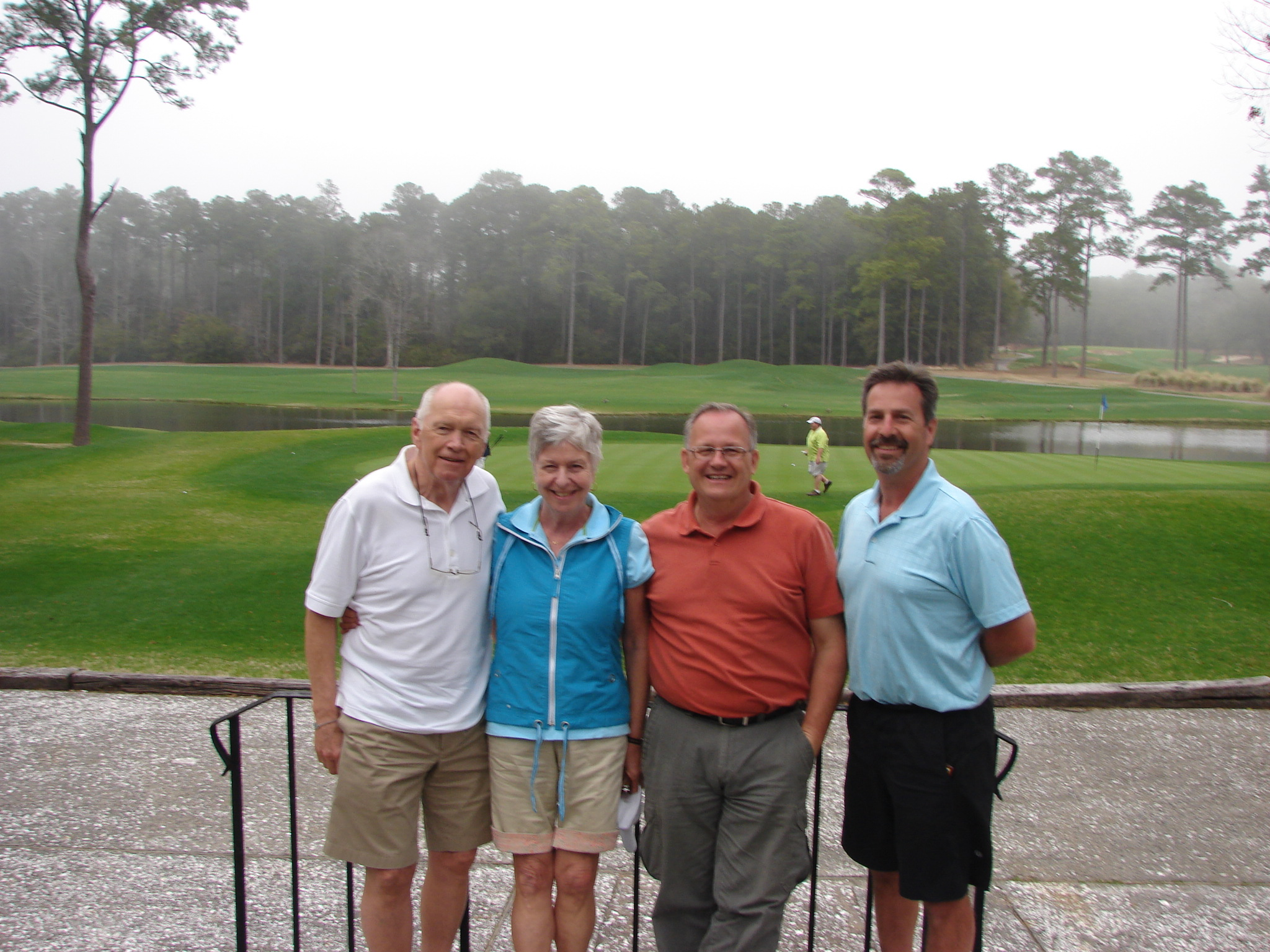 with Brian, Dave and Allison at Heather Glen GC