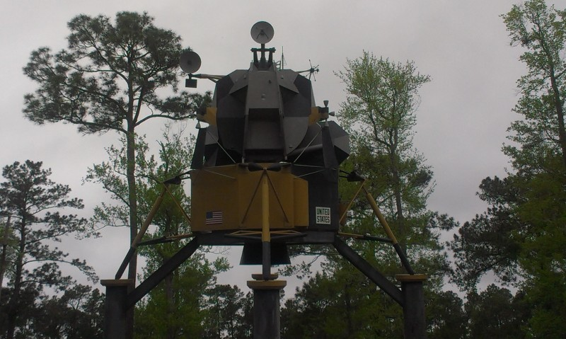 Lunar module at Mississippi Welcome Center.