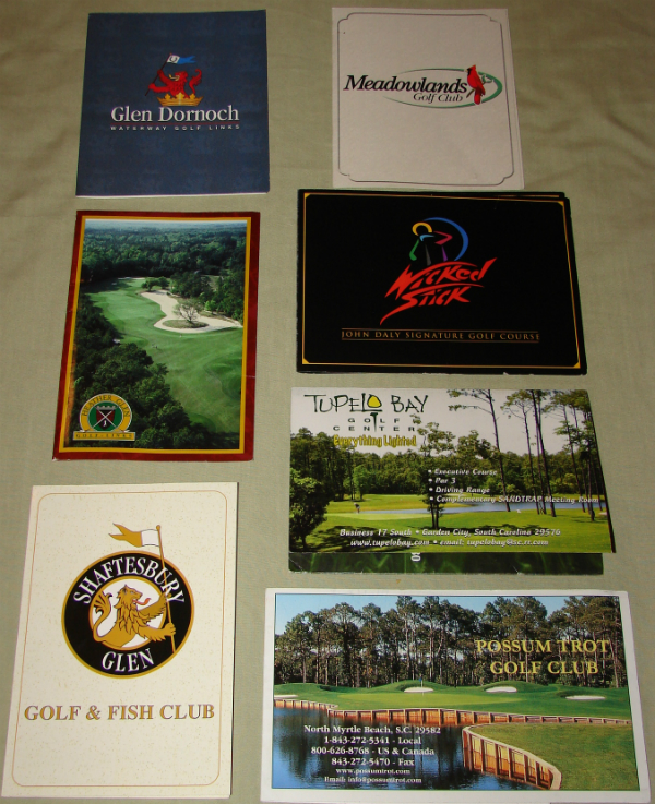 Myrtle Beach scorecard collection