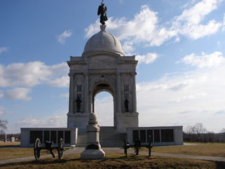 photo of large monument at Gettysburg Battlefield