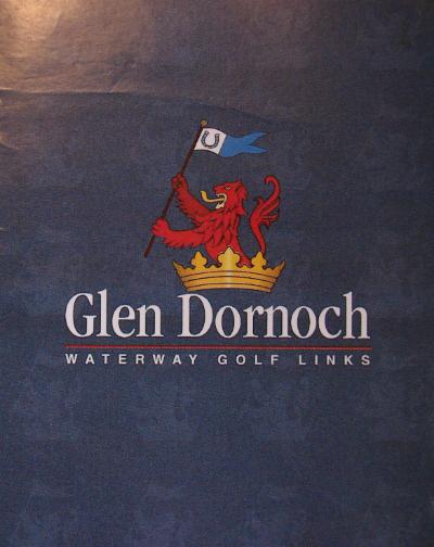 front cover of Glen Dornoch Waterway Golf Links Scorecard