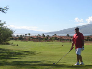18th tee at Maui Nui Golf Club