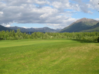 A view of the mountains from Moose Creek Golf Club