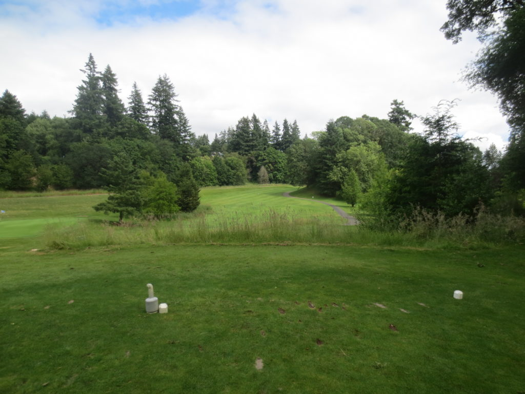 photo looking at the 6th fairway